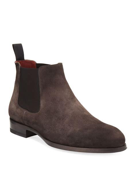 Men s Designer Boots Chelsea Dress at Neiman Marcus