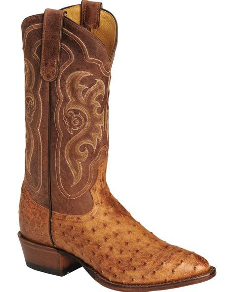 Men s Full Quill Ostrich Skin Boots Sheplers