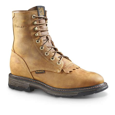 Men s Lace Up Work Boots PFI Western