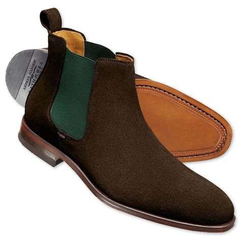 Men s Leather Suede Chelsea Boots Charles Tyrwhitt
