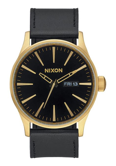 Men s Leather Watches Nixon Watches and Premium Accessories