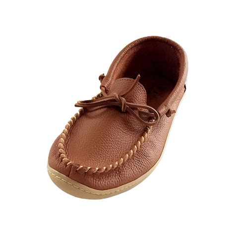 Men s Moccasin Shoes Rubber Sole
