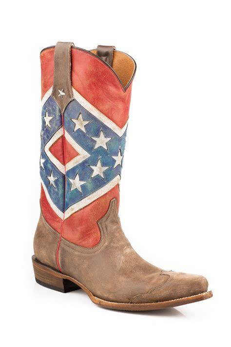 Men s Rebel Flag Snip Toe Boot by Roper horsetown