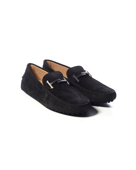 Men s driving shoes suede and leather loafers Tod s Store