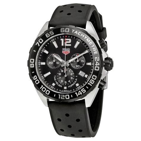Mens Black Chronograph Watch eBay