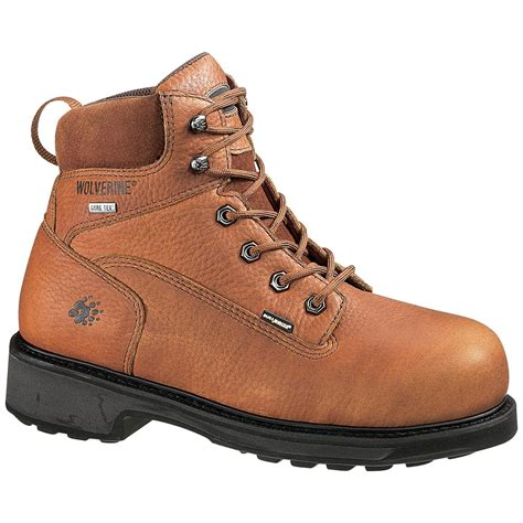 Mens Carolina Work Boots Slip Resistant Waterproof