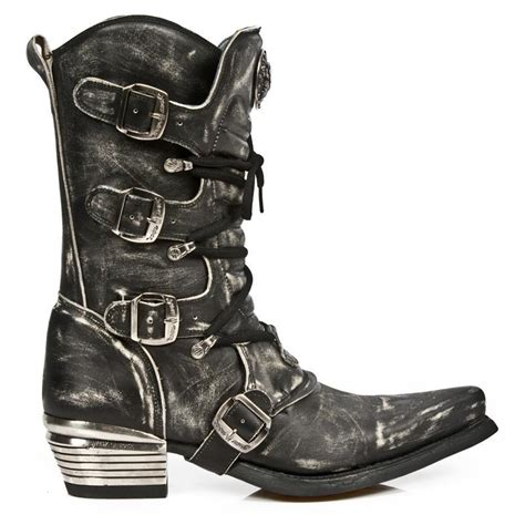 Mens Gothic Boots Steampunk Boots New Rock Demonia