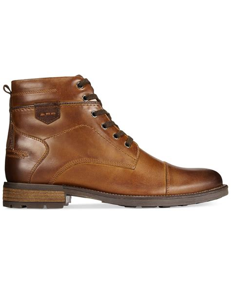 Mens Macys Leather Boots ShopStyle
