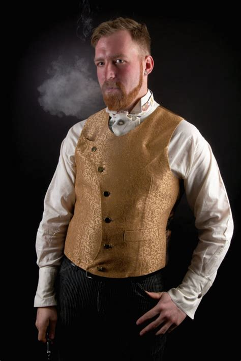 Mens Steampunk Vests Victorian Waistcoats and Shaper