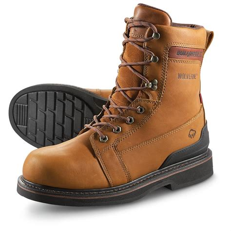 Mens Tan Work Boots polyvore