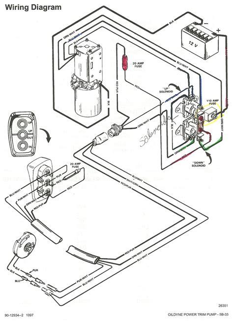 MerCruiser Trim Sender Limit Switches Wiring Diagram