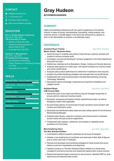 merchandiser resume sample job interview career guide - Visual Merchandising Resume Sample