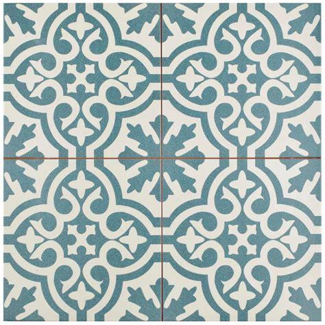Merola Tile Berkeley Blue 17 5 8 in x 17 5 8 in Ceramic