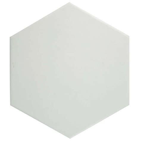 Merola Tile Hexatile Matte Blanco 7 in x 8 in Porcelain