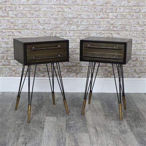 Metal Bedside Table eBay