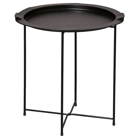 Metal Folding Side Table Black Target Australia