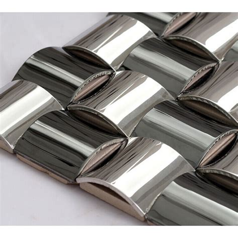 Metal Mosaic Tile Stainless Steel Aluminum And Copper