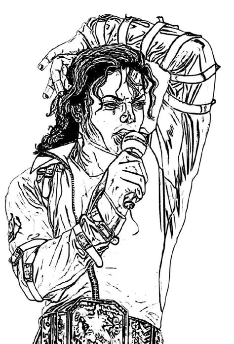 Michael Jackson coloring page Free Printable Coloring Pages