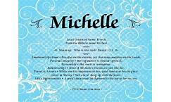 Michelle - meaning of Michelle name - Baby Names, Name ...