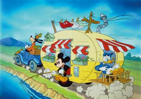 Mickey Mouse Donald Duck and Goofy go on a Caravan trip
