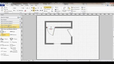 Microsoft Visio Floor Plan and Visio Shapes Free