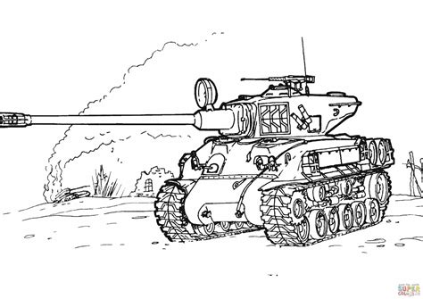 Military Tank Coloring Page Online Coloring Tank
