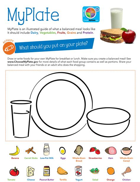 Milk Food Groups Learning Sheet Fun Healthy Kids Games