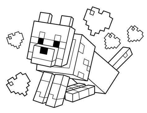 Minecraft Coloring Pages HealthyChild