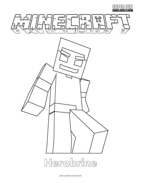 Minecraft Herobrine Free Coloring Pages