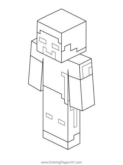 Minecraft Herobrine coloring page Free Printable