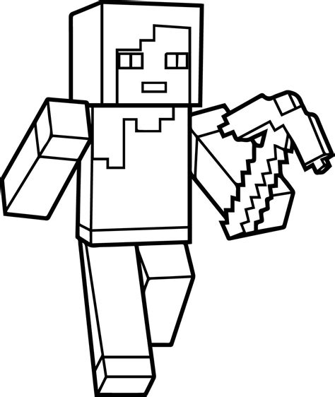 Minecraft Steve Coloring Pages GetColoringPages