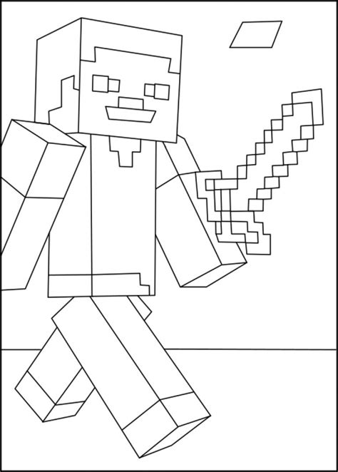 Minecraft Steve coloring page Free Printable Coloring Pages