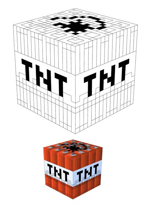 Minecraft TNT coloring page Free Printable Coloring Pages