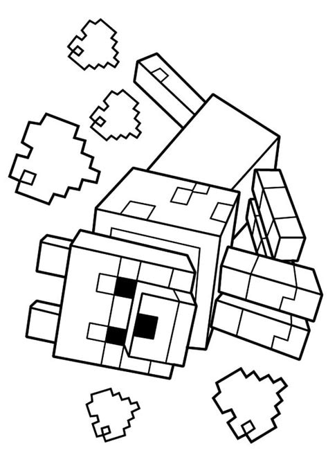 Minecraft Wolf coloring page Free Printable Coloring Pages