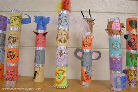 Mini Totem Poles Lesson Plan Multicultural Art and Craft