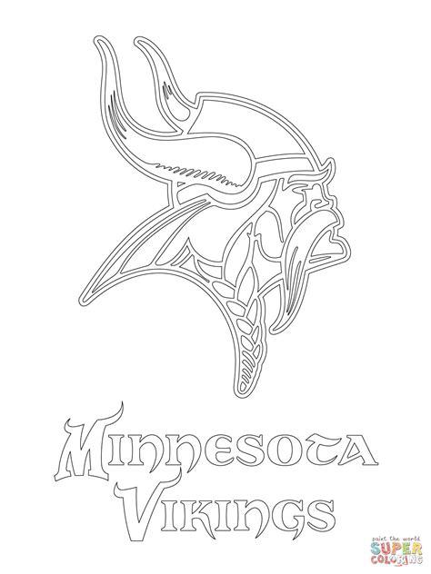 Minnesota Vikings Logo coloring page Free Printable