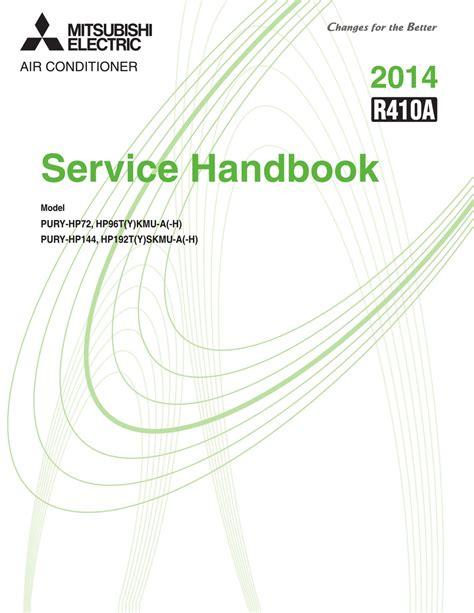 Mitsubishi Electric PURY HP72 Service Handbook