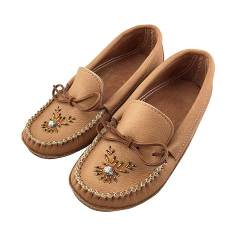 Moccasin Slippers Genuine Leather Native American