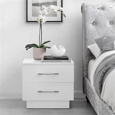 Modern Bedside Tables UK High Gloss Designer Bedside