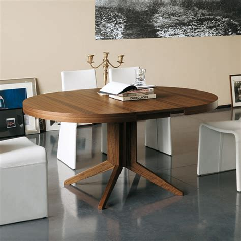 Modern Contemporary Extendable Round Dining Table