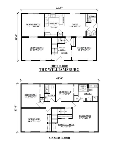 Modular Homes Floor Plans Two Story 4