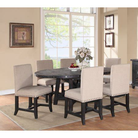 Modus Oval Yosemite 7 Piece Oval Dining Table Set with