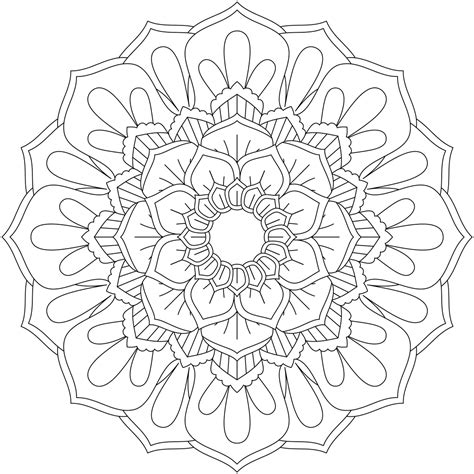 Monday Mandala Coloring Pages Just for You
