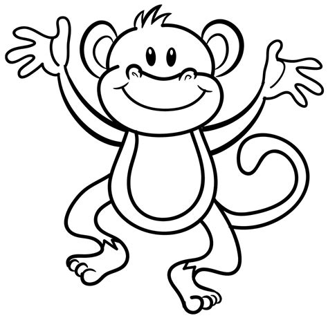 Monkey Coloring Pages For Kids Printable Monkey Coloring