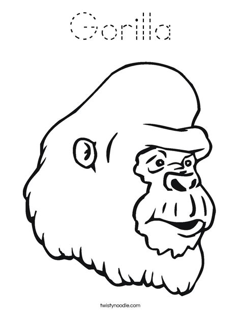 Monkey Coloring Pages Twisty Noodle