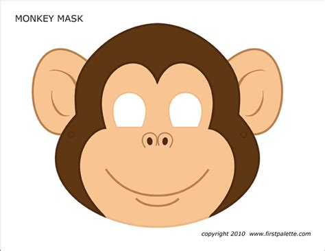 Monkey Mask Printable Templates Coloring Pages