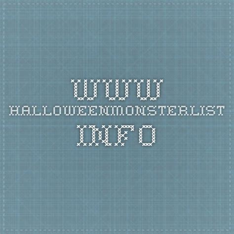 Monster Page of Halloween Project Links