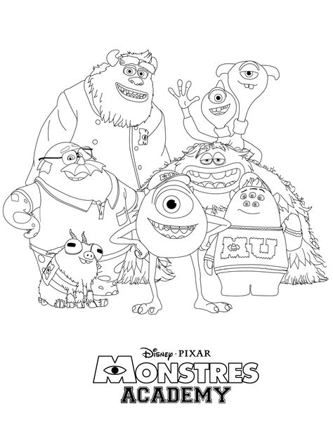 Monsters University Free Printable Coloring Pages for Kids