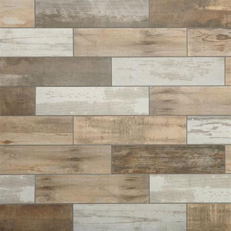 Montagna Wood Look Porcelain Tile The Home Depot