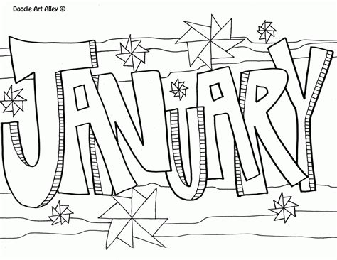 Months Of The Year Coloring Pages Coloring Home